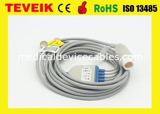 Reusable HP Round 12pin 5 leads  ECG Cable For Patient Monitor